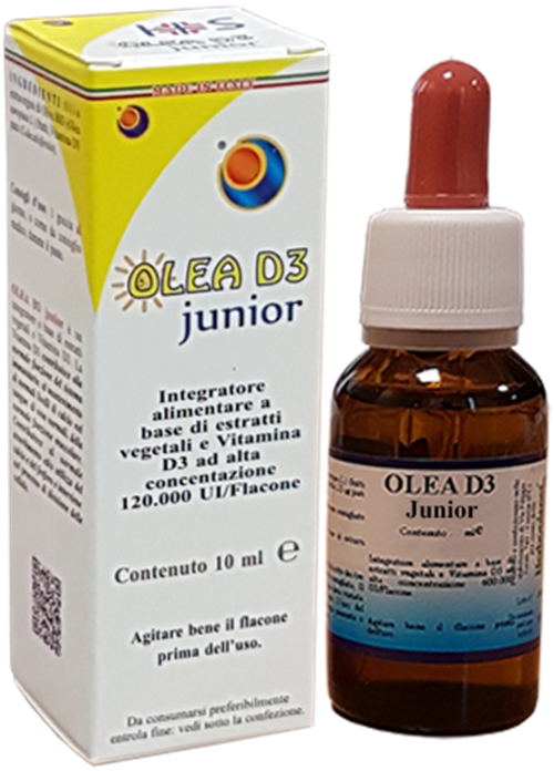 OLEA D3 Junior - Normal absorption and use of calcium and phosphorus. Normal bone and muscle function maintenance.